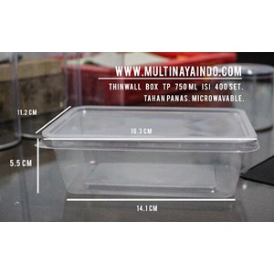 Kotak Makan / Thinwall / Box Plastik / Food Container Plastik Tahan Panas TP 750 mL