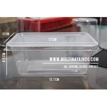 Kotak Makan / Thinwall / Box Plastik / Food Container  Plastik Tahan Panas TP 1000 mL