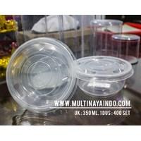 Mangkok Plastik / Thinwall / Food Container  Ukuran 350 mL Tahan Panas