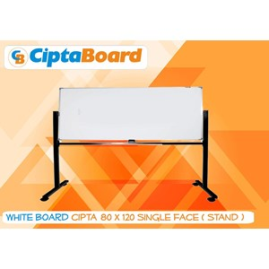 Whiteboard Single Face 80 X 120Cm