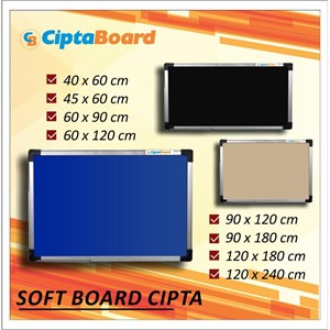 Softboard Bludru Cipta 90 X 180Cm
