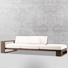 Sofa long white sofa bed WDL 0180