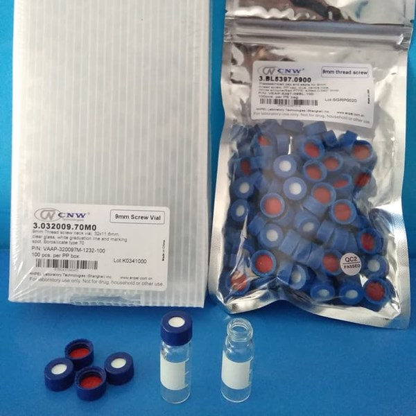 Vial HPLC GC 1.5ml Clear + caps + pre-slit septa