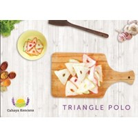 Sell Triangle Polo Shape Garlic Crackers