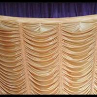 Dekorasi Background Tenda Serut