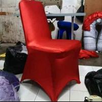 Sarung Kursi Polos Merah 1