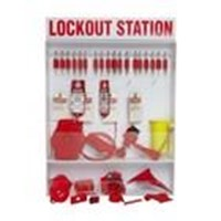 Jual Brady 99693 Extra-Large Lockout Station with 18 Safety Padlocks