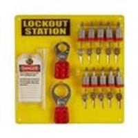 Jual Brady 51188 10-Lock Board and 10 Steel Padlocks