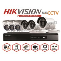 Jual PAKET KAMERA CCTV 6CHANEL FULL HD 2MP