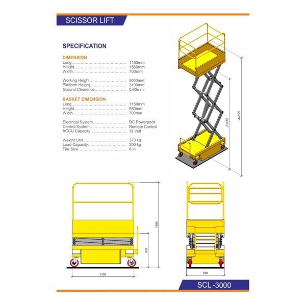 Mobile Hydraulic Table - Scissor Lift