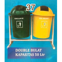 Tempat Sampah Double Bulat 50 lt
