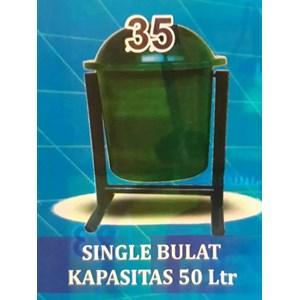 Tempat Sampah Single Bulat 50 liter