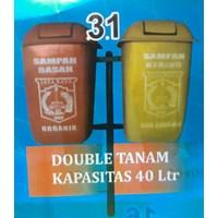 Tempat Sampah Double Tanam 40 Liter