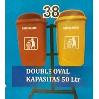 Tempat Sampah Double Oval 50 Liter