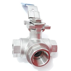 Ball Valve 3 Way 3pcs SS 316