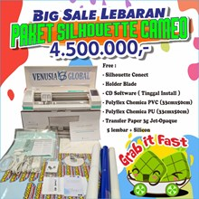 Paket  Mesin Cutting Sticker N Sablon Heat Transfe