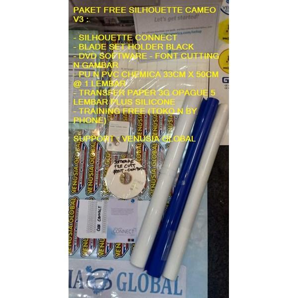 Paket  Mesin Cutting Sticker N Sablon Heat Transfer Silhouette Cameo V3
