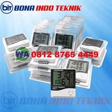 Ruang Indoor LCD Elektronik Suhu Kelembaban Meter Digital Thermometer Hygrometer Stasiun Cuaca Jam Alarm HTC-1
