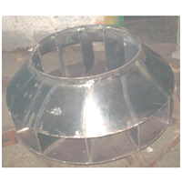 Impeller Dia 850 x 12 Blade Rubber Lining For Chemical Resistance