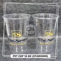 Sablon Gelas Plastik PET Murah 5