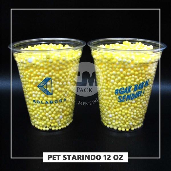 Sablon Gelas Plastik PET