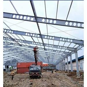 kontruksi bangunan gudang By CV. Anugerah Bumi Senopati