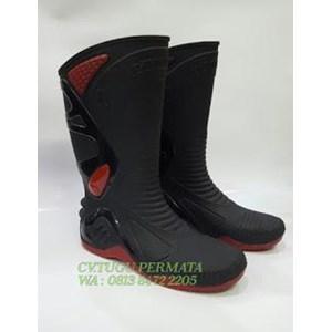Sepatu Ap Boots  Moto 2 Black Red