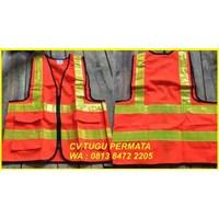 pakaian safety Rompi Polyster Reslesing orange 1