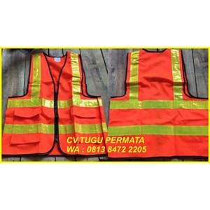 pakaian safety Rompi Polyster Reslesing orange