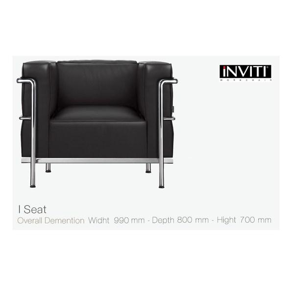Kursi Kantor Sofa Minimalis Inviti Busier 1 Seat