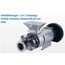 SANITARY PUMP Twin Screw Pump Merk HYGHSPIN Jung Twin For Conveying Non-Flow Capable Products