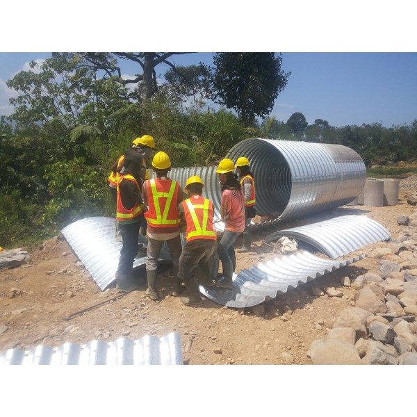 Corrugated Steel Pipe type Multi Plate Pipe
