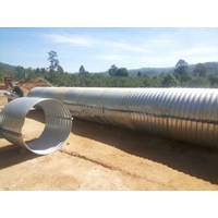 Corrugated Steel Pipe type Nestable Flange E 100