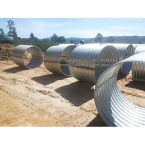 Corrugated Steel Pipe Nestable Flange E 100