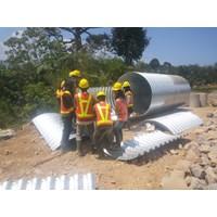 Gorong gorong baja/Corrugated steel pipe/Armco/Pipa baja gelombang Murah 5