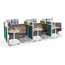 Meja Kantor Three Pararel