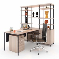 Meja Kantor Director With Cabinet Display 1