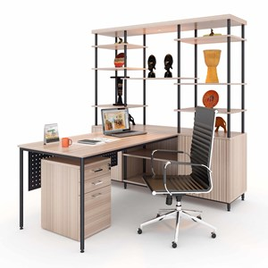 Meja Kantor Director With Cabinet Display