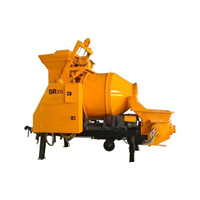 Mesin Pengaduk Beton dan Semen Trailer concrete mixer pump seri JBT40-10 30S