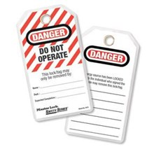 Lockout Tag Out Do Not Operate I.D. Tags