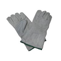 Grey Leather Gloves 1