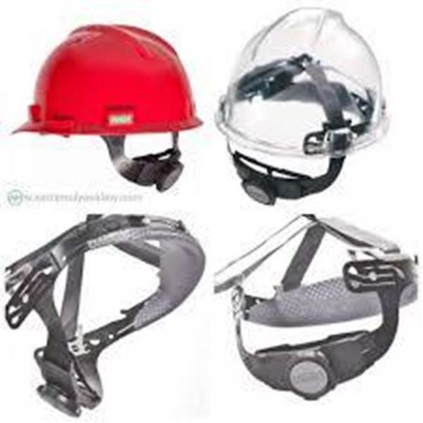 Helm safety MSA + Fasrak dan Tali Dagu