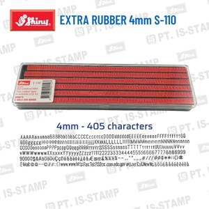 Shiny Extra Rubber 4Mm S-100
