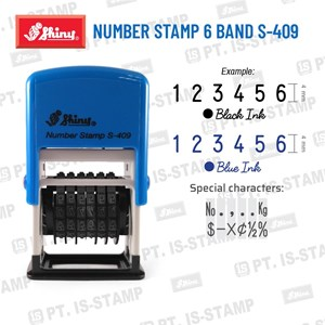 Shiny Number Stamp 6 Band S-409