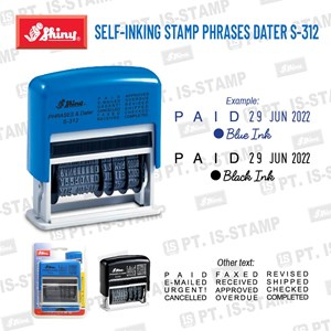 Shiny Self-Inking Stamp Phrases Dater S-312