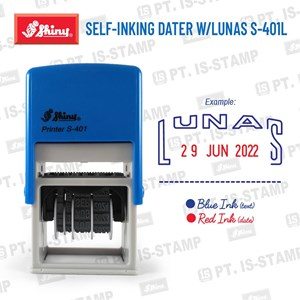 Shiny Self-Inking Dater W/Lunas S-401L