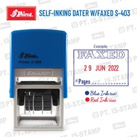 Shiny Self-Inking Dater W/Faxed S-403 1