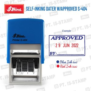 Shiny Self-Inking Dater W/Approved S-404