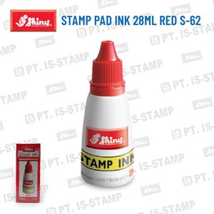 Shiny Stamp Pad Ink 28Ml Red S-62