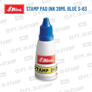 Shiny Stamp Pad Ink 28Ml Blue S-63